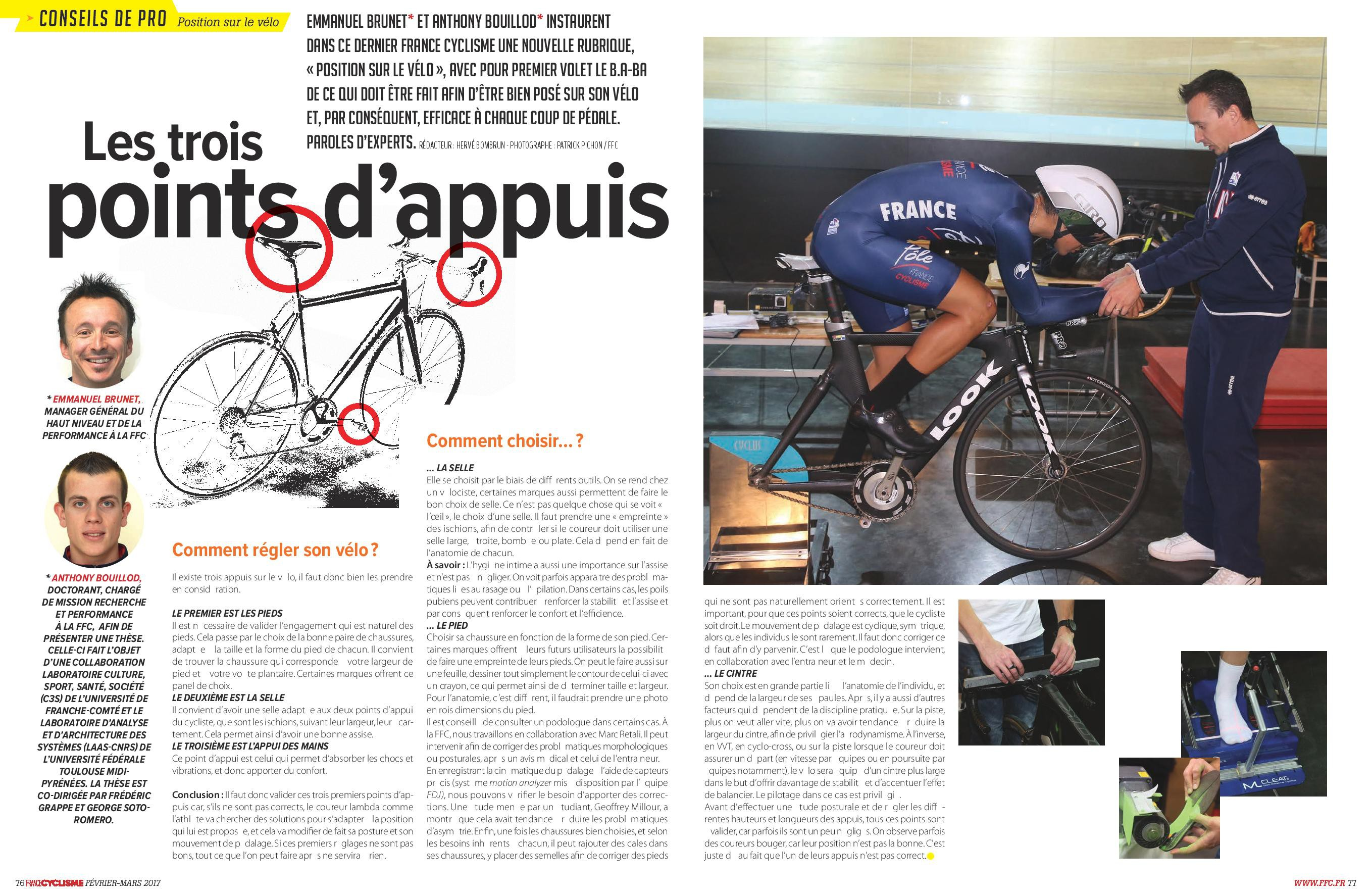 French Cycling Federation article - February - March 2017